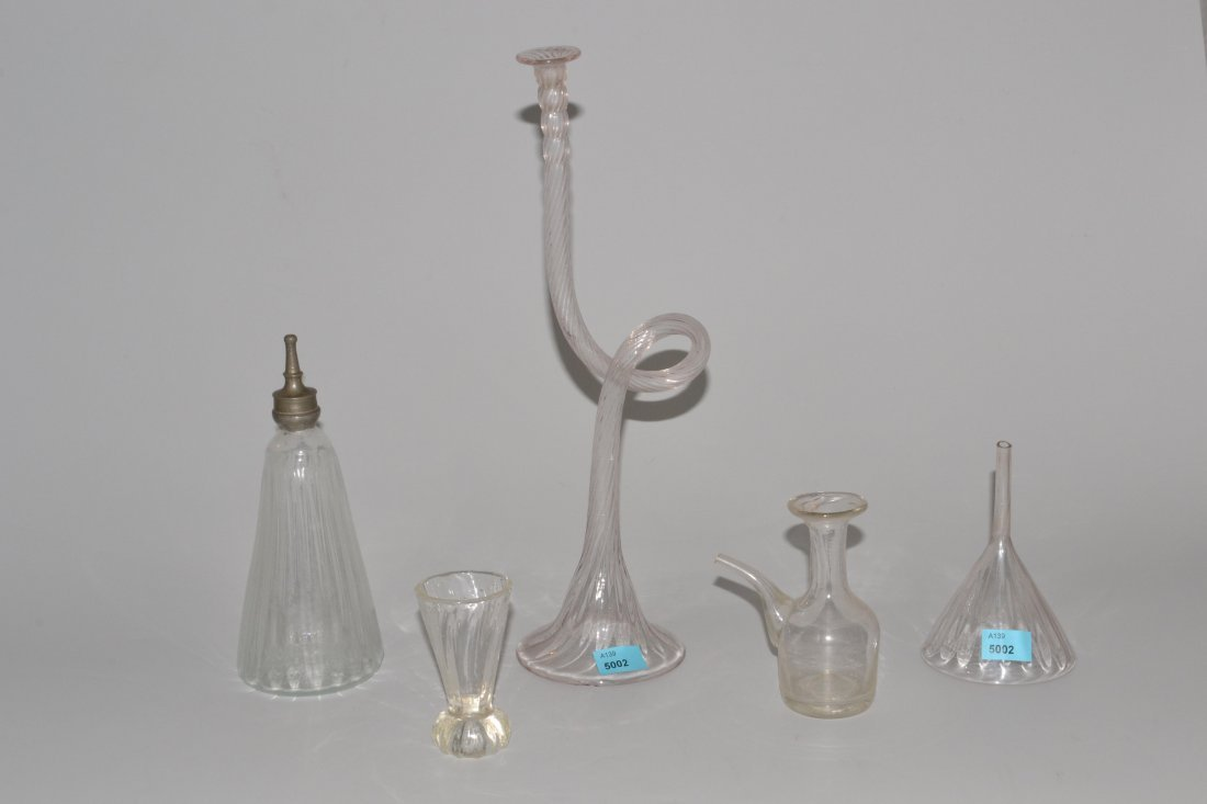 Lot: Glasobjekte 19.Jh. Farbloses optisches Glas,