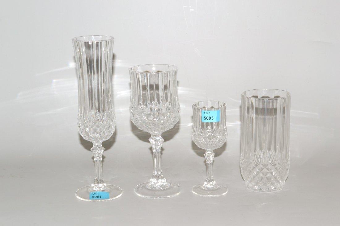 Gläserserviceteile, Cristal d'Arques 20.Jh. Farbloses