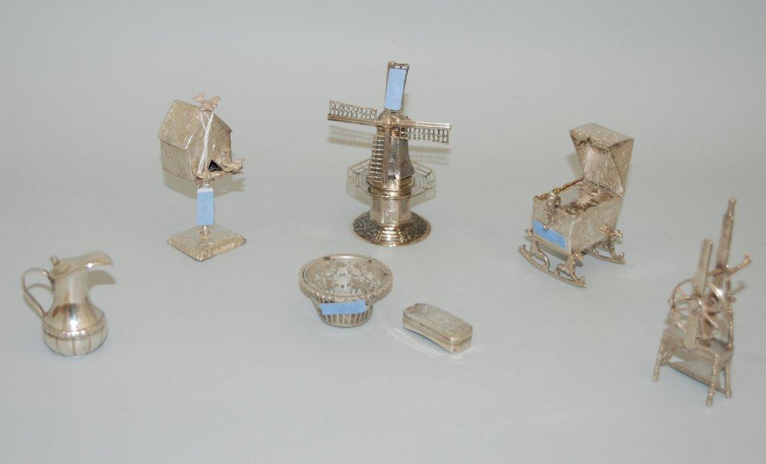 Lot: 7 Miniaturobjekte England/Holland, 19./20.Jh.