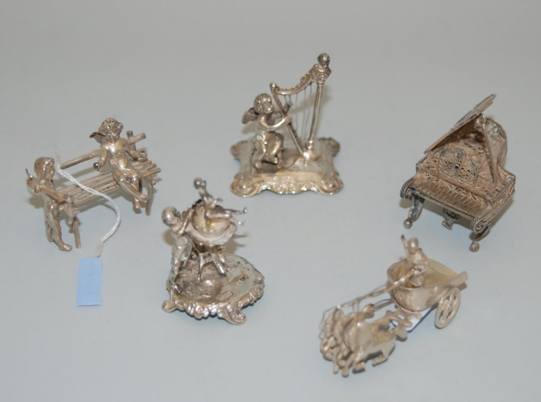 Lot: 5 Miniaturobjekte England/Holland, 19./20.Jh.