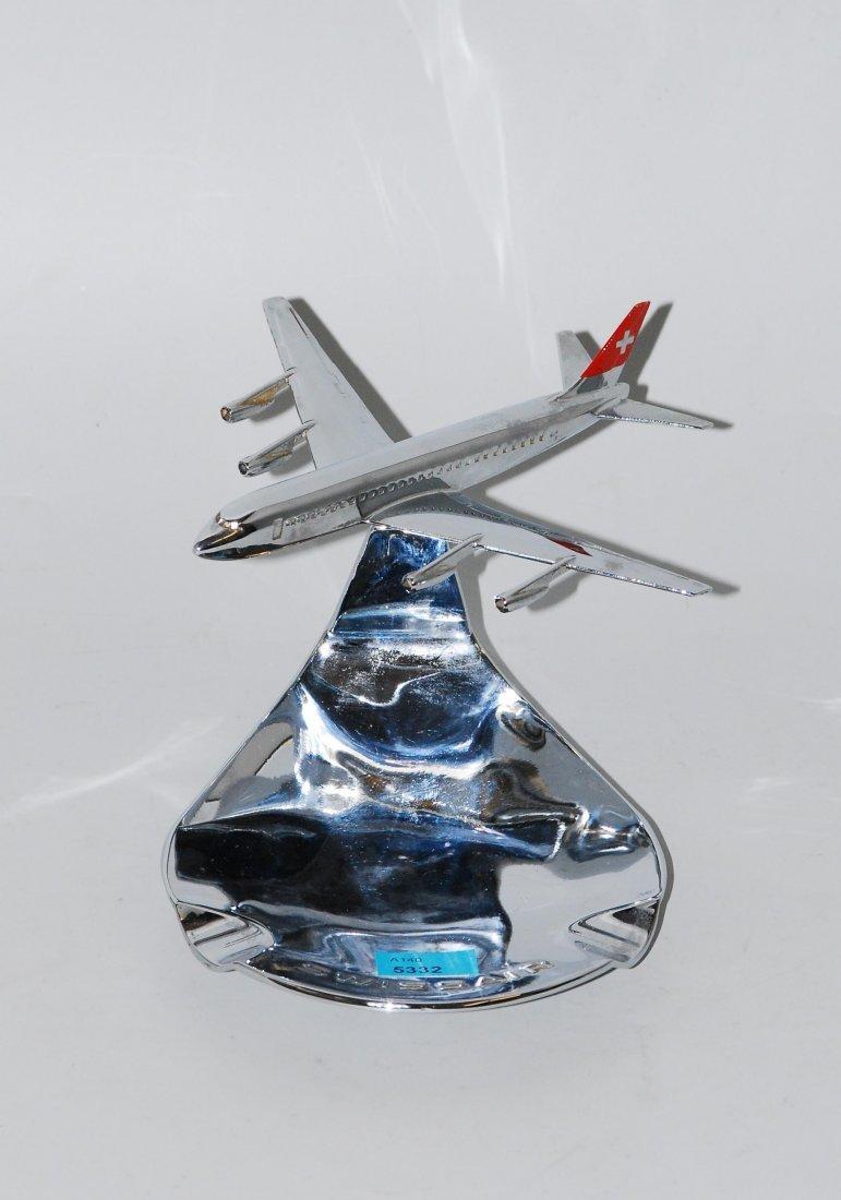Swissair-Ascher Schweiz. Metall, verchromt. Bezeichnet: