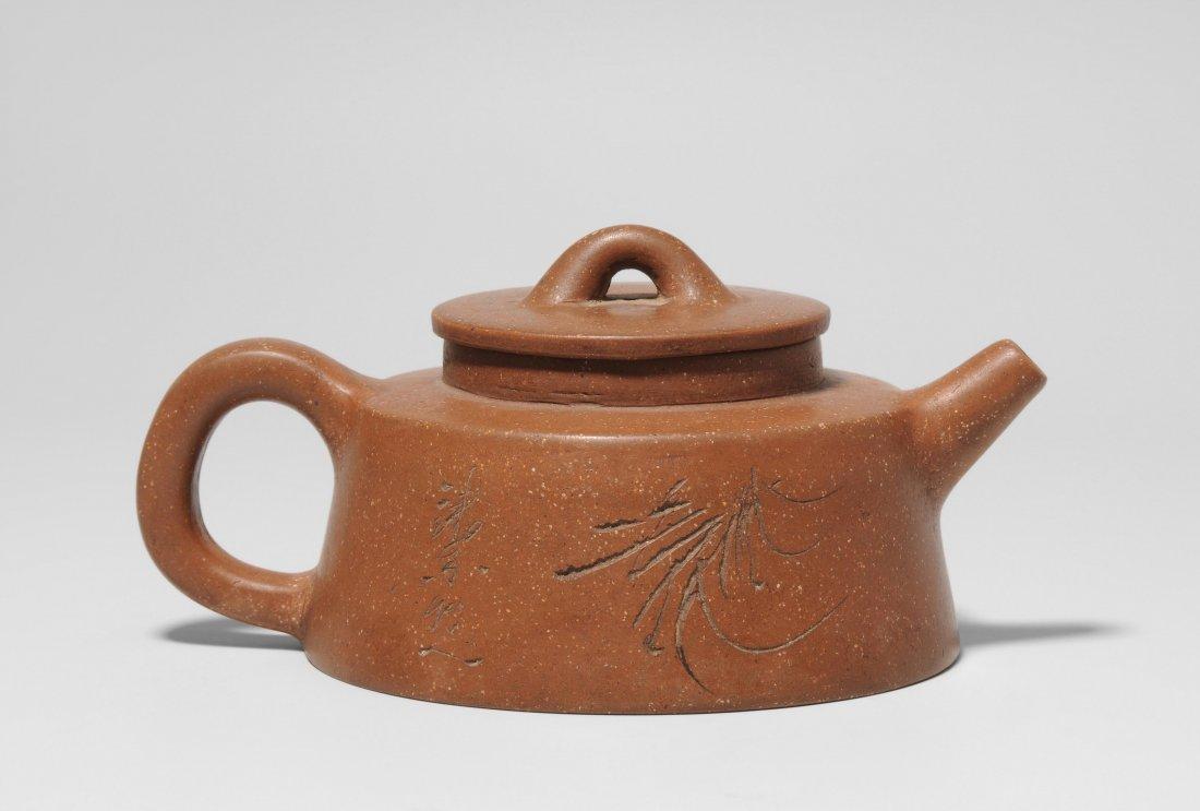 Yixing-Teekanne China, Anfang 20.Jh. Mit Vierzeichen