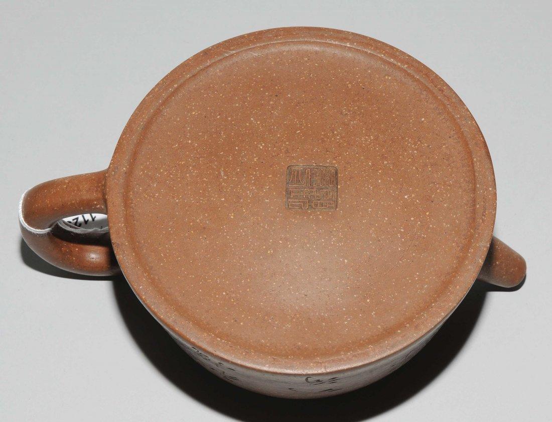 Yixing-Teekanne China, Anfang 20.Jh. Mit Vierzeichen - 6