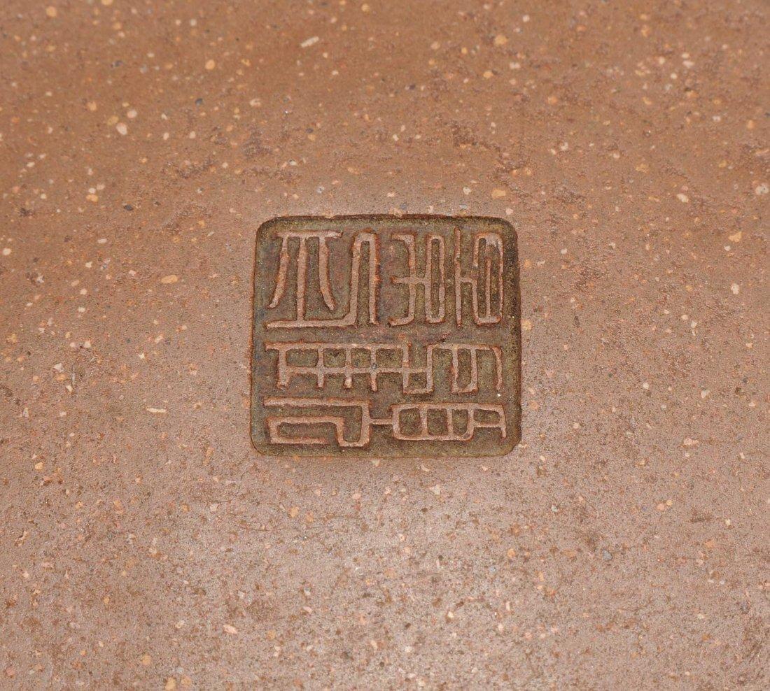 Yixing-Teekanne China, Anfang 20.Jh. Mit Vierzeichen - 7