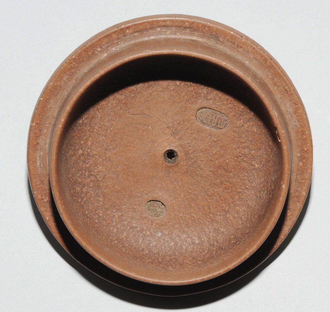 Yixing-Teekanne China, Anfang 20.Jh. Mit Vierzeichen - 8