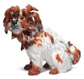"""Tierfigur, Meissen 20.jh. """"bologneser Hund"""". Modell Von"""