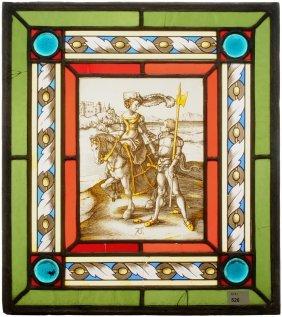 Glasscheibe Deutsch, Um 1900, Nach Einer Vorlage Von