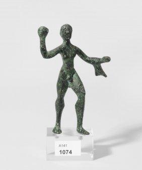 Statuette Des Herakles Etruskisch, 500 V. Chr. Bronze.