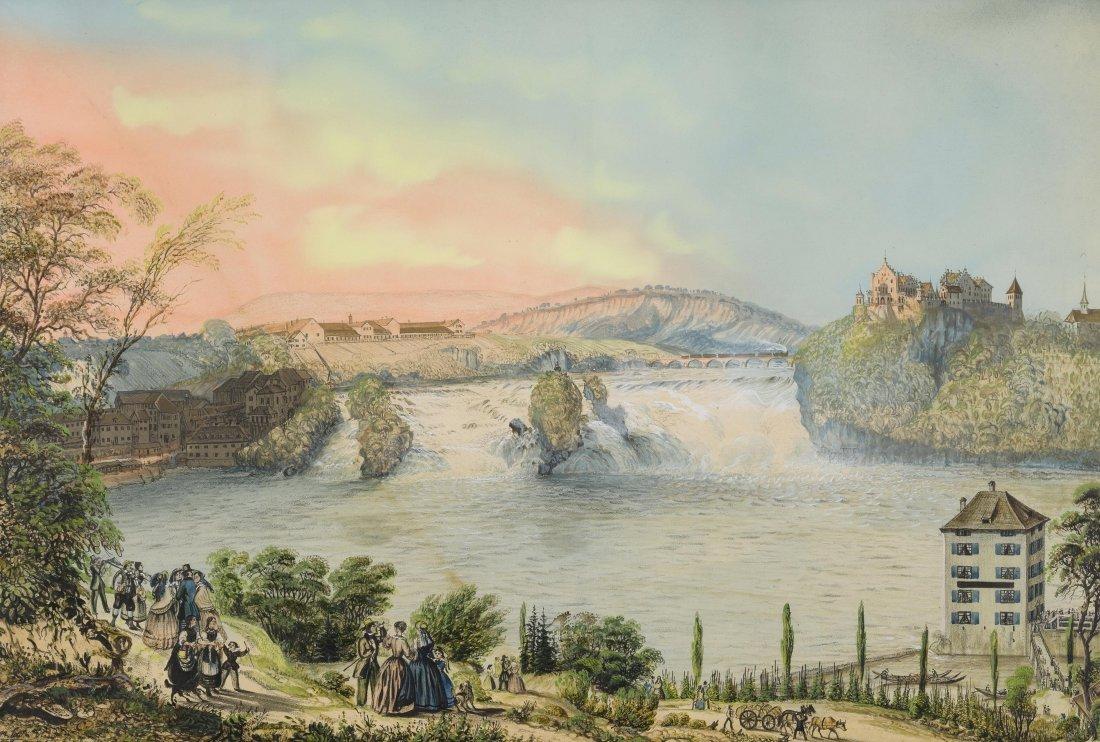 Eggli, Jakob (Dachsen 1812–1880 Rheinau) Der Rheinfall