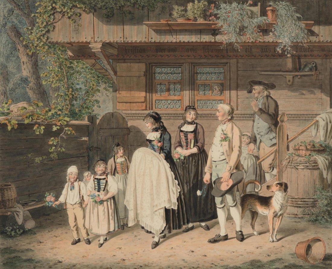 "König, Franz Niklaus (1765 Bern 1832) ""Die Kinds-tauffe"