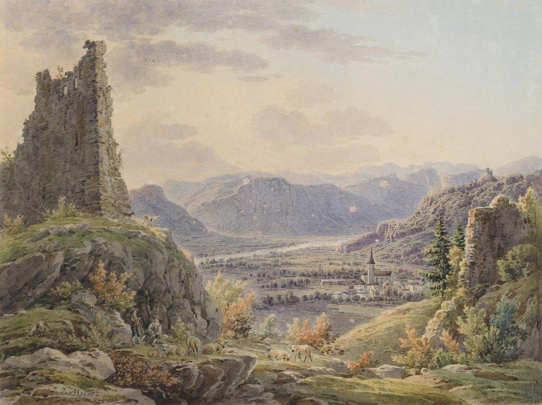 Meyer, Johann Jakob (Meilen 1787–1858 Zürich) Ansicht