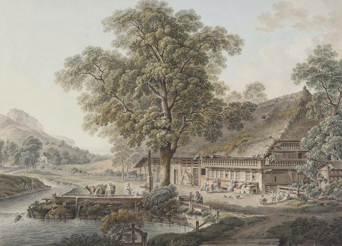 """Rieter, Heinrich (Winterthur 1751–1818 Bern) """"Maison de"""