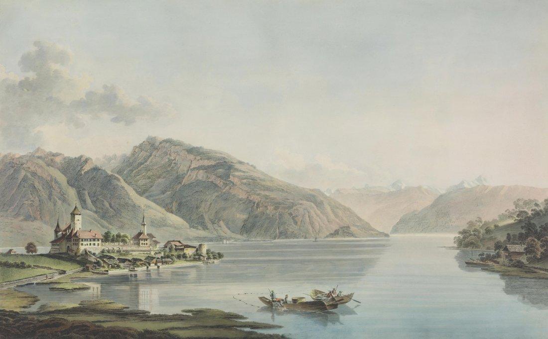 """Rieter, Heinrich (Winterthur 1751–1818 Bern) """"Vûe du"""