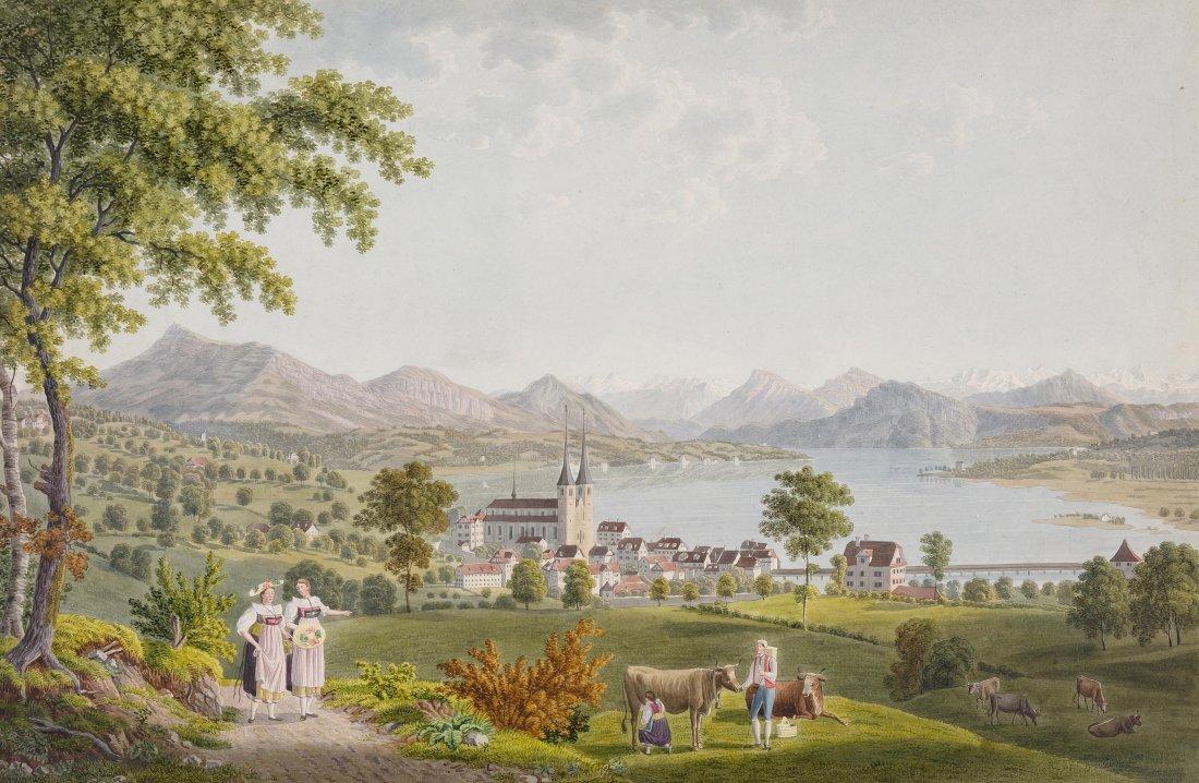 Schmid, David Alois (1791 Schwyz 1861) Blick auf Luzern