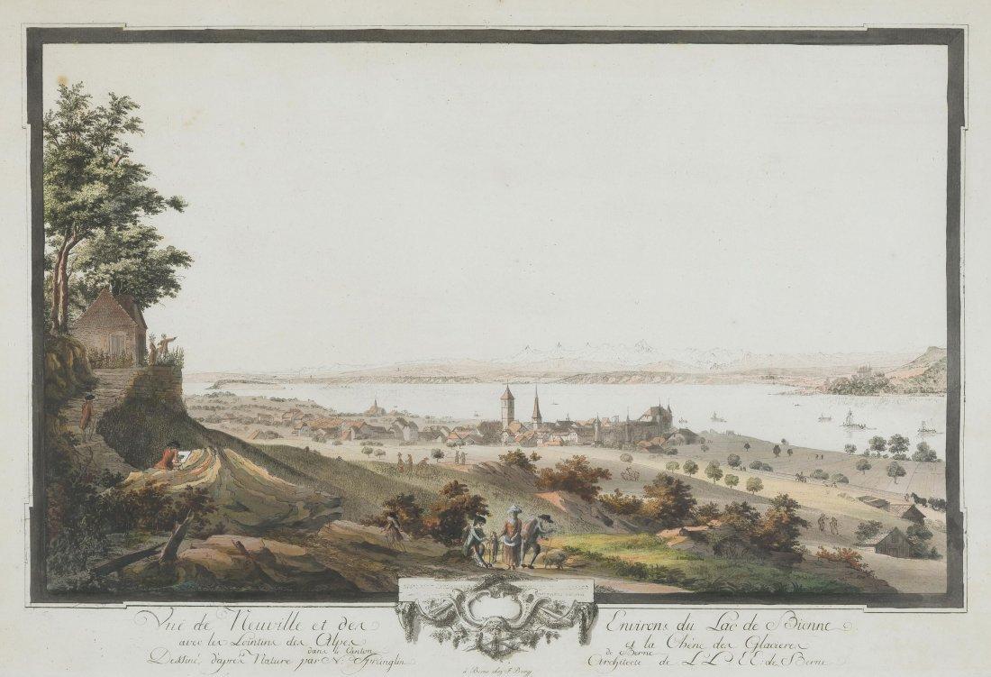 """Sprünglin, Niklaus (St. Stephan 1725–1802 Bern) """"Vuë de"""