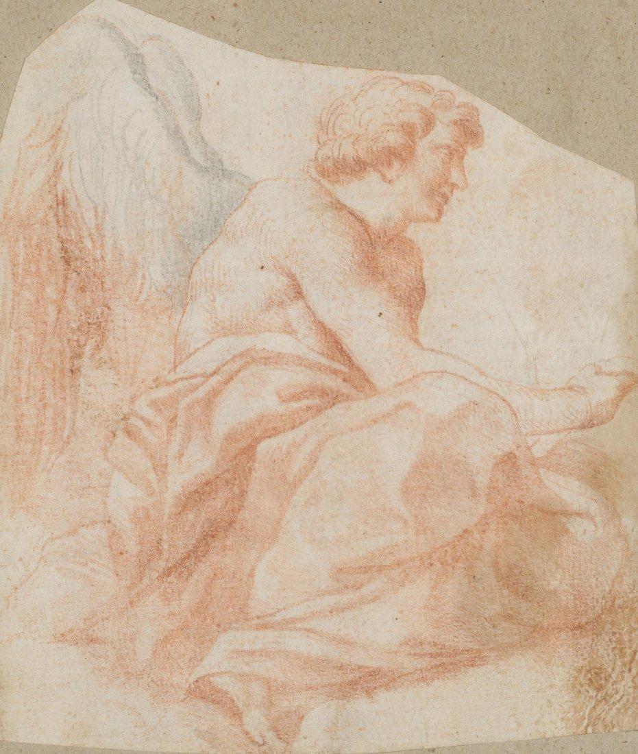 Italien (Emilia), 2.Hälfte 16.Jh. Sitzender Engel.