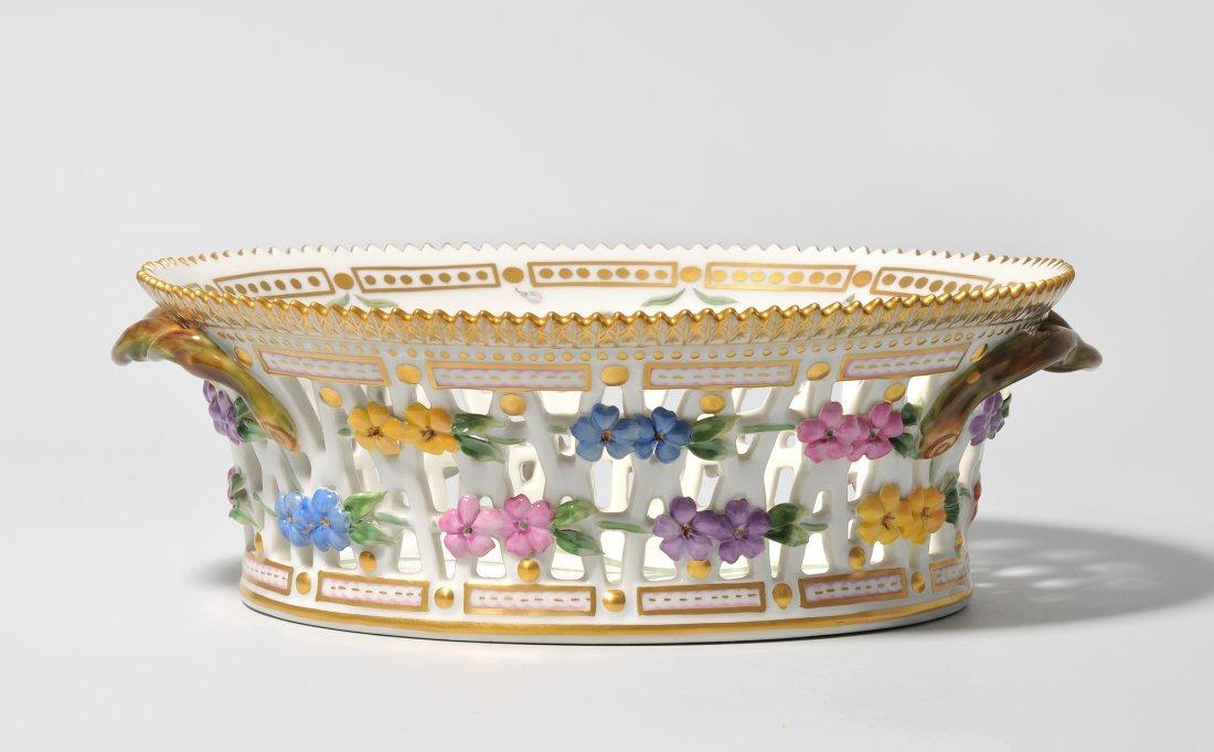 """Obstkorb, """"Flora Danica"""" 2. Hälfte 20.Jh. Royal"""