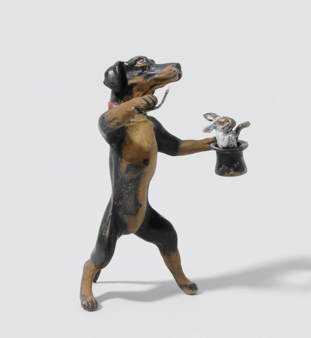 Dackel als Zauberer Wiener Bronze, 2. Hälfte 20.Jh.