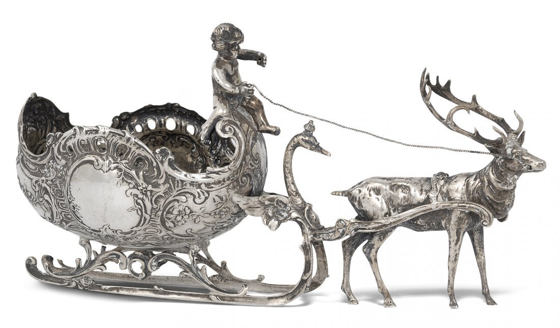 Figurengruppe Deutschland, um 1900. Silber.