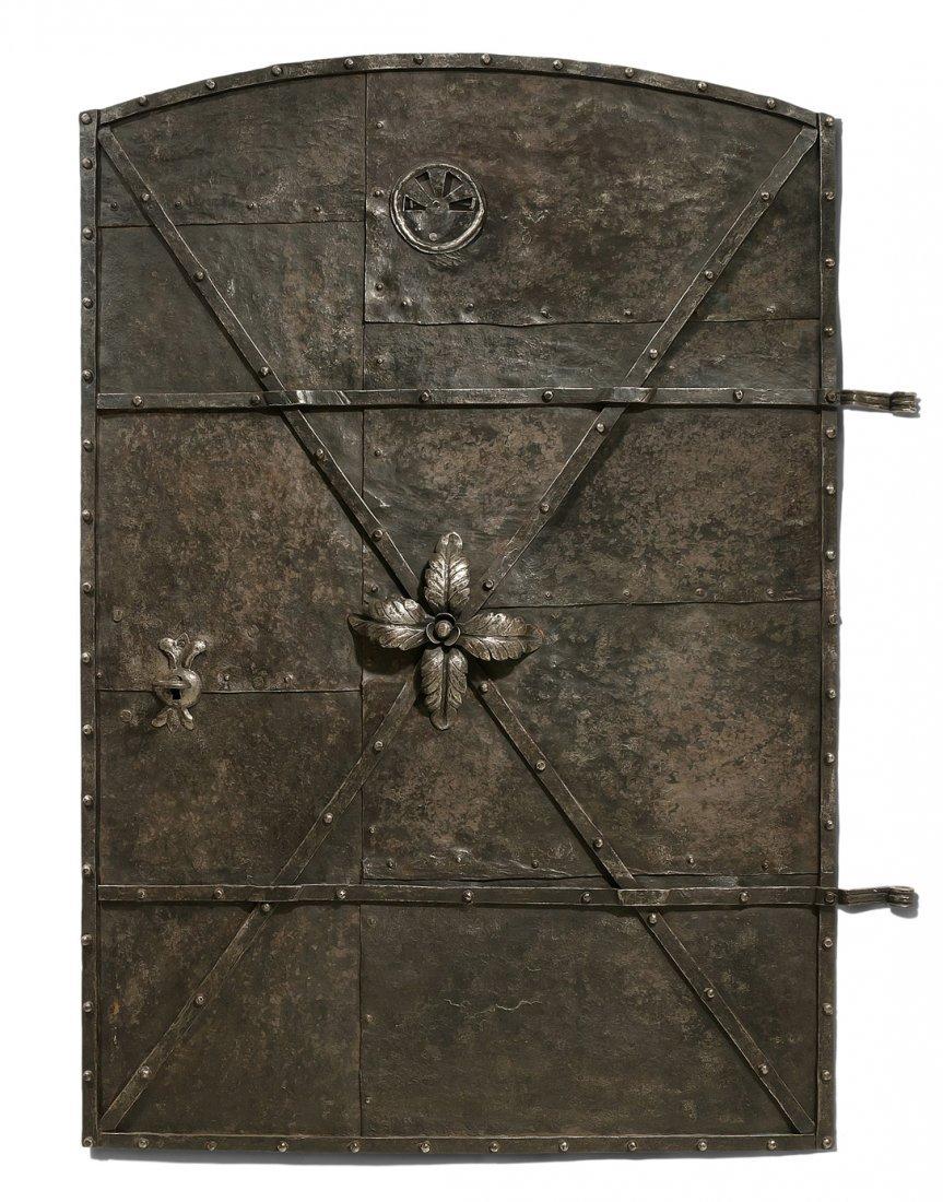 Kleine Tür Spätbarock. Schmiedeisen. Wohl Tür einer