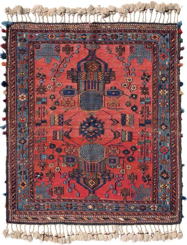 Afshar-Sumach S-Iran, um 1910. Feine Nadelarbeit. Auf
