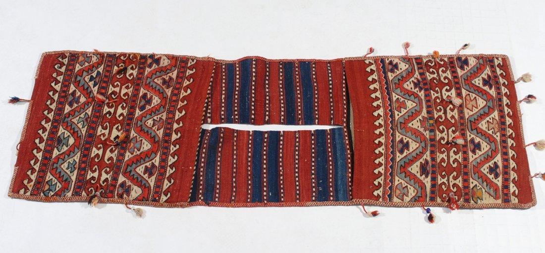 Kurden-Tasche O-Türkei, um 1910. Streifen-Dekor. Der