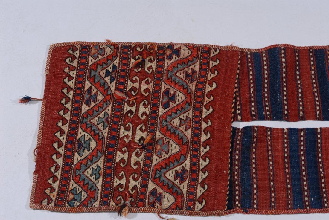 Kurden-Tasche O-Türkei, um 1910. Streifen-Dekor. Der - 2