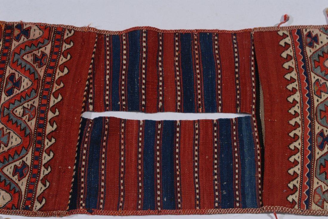 Kurden-Tasche O-Türkei, um 1910. Streifen-Dekor. Der - 3