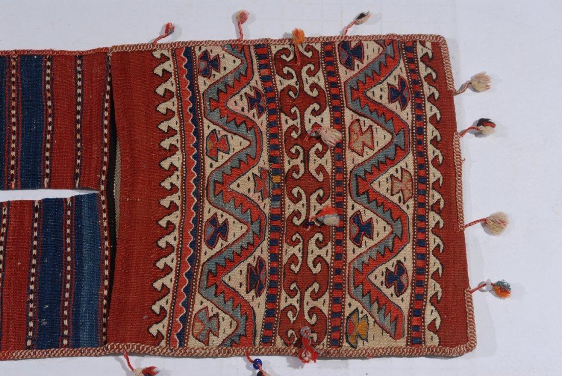 Kurden-Tasche O-Türkei, um 1910. Streifen-Dekor. Der - 4