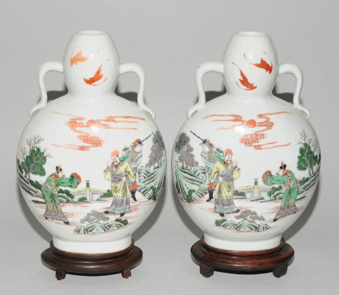 "1 Paar Mondflaschen, ""bian hu""  China, 19./20.Jh. - 2"