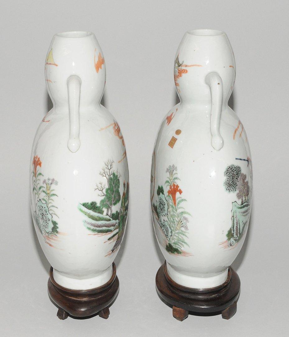 "1 Paar Mondflaschen, ""bian hu""  China, 19./20.Jh. - 4"