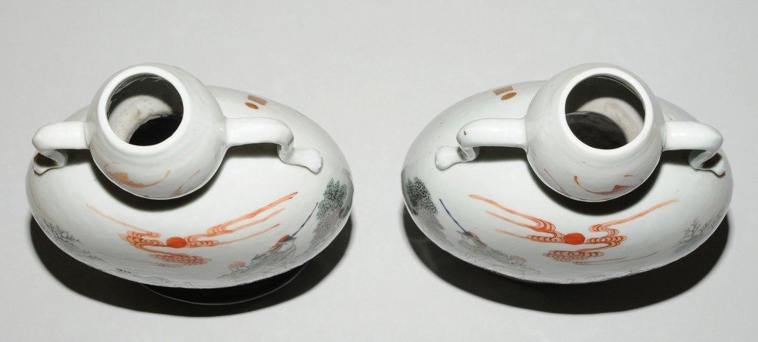 "1 Paar Mondflaschen, ""bian hu""  China, 19./20.Jh. - 5"