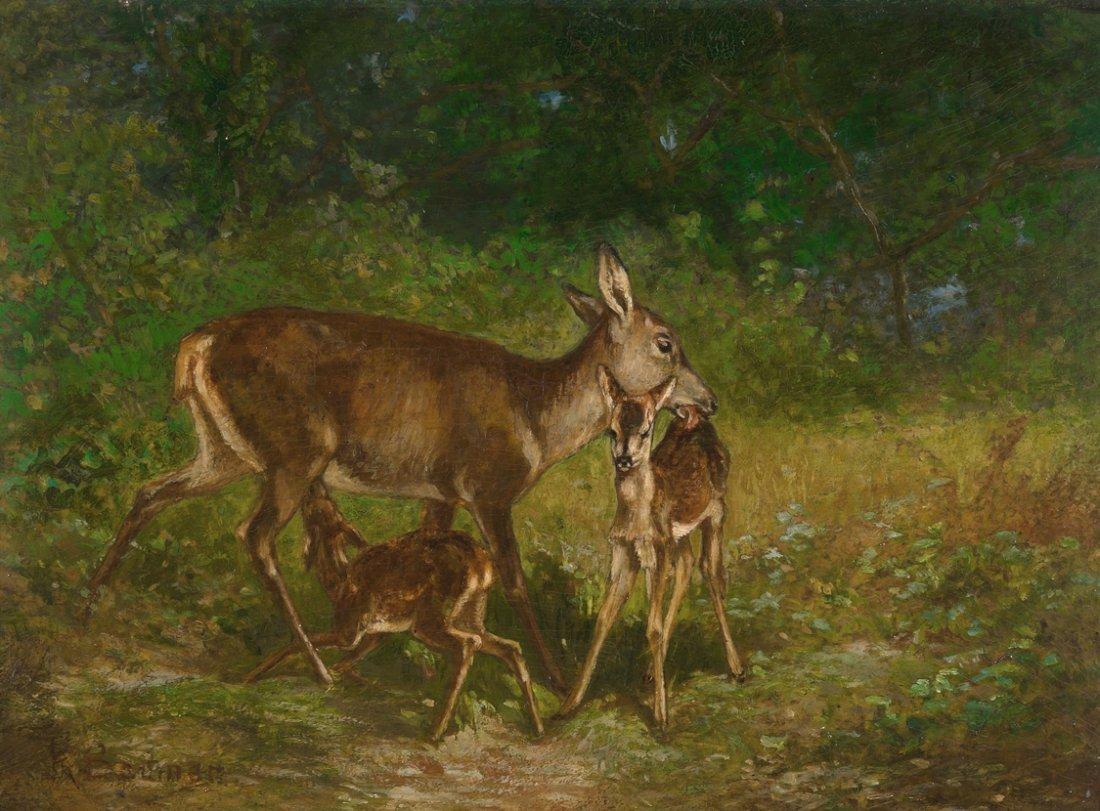 Bodmer, Karl (Zrich 1809–1893 Paris) Rehgeiss mit
