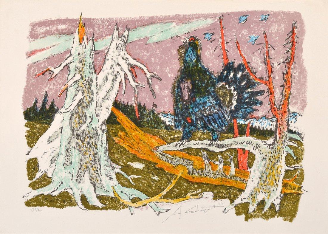 Carigiet, Alois (Trun 1902–1985 Trun) Auerhahn. 1974.