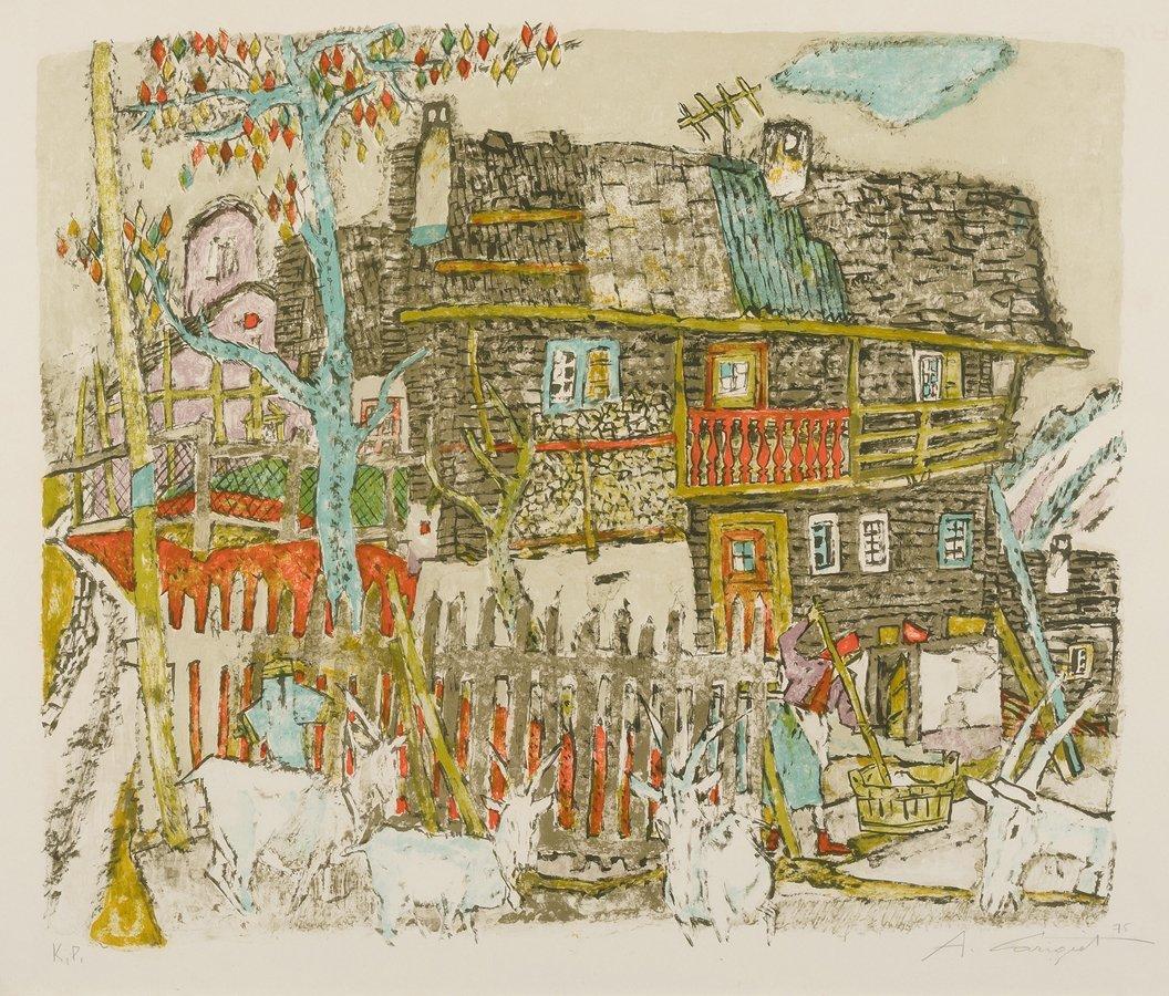 Carigiet, Alois (Trun 1902–1985 Trun) Bauernhaus in