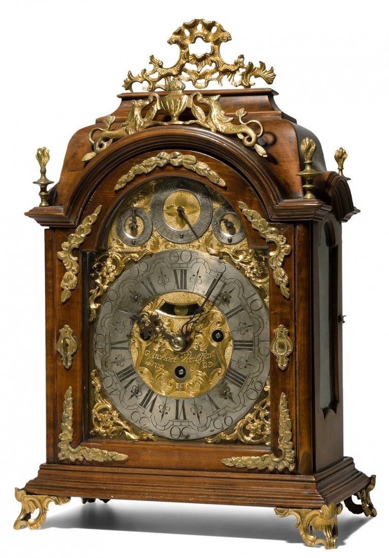 Bracket-Clock Michael Weilhart Prag Tschechien, 18.Jh.