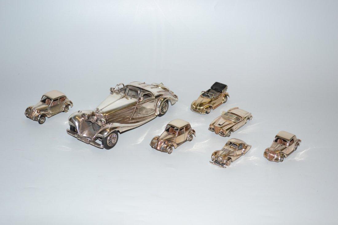 Lot: 7 Modellautos 20.Jh. Silber/versilbert. Diverse