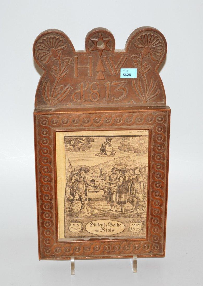 Kalenderrahmen Appenzell, datiert 1813. Holz,