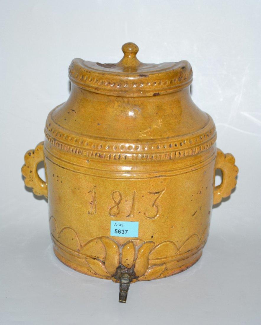 Giessfass  Alpenlndisch, datiert 1813. Keramik,