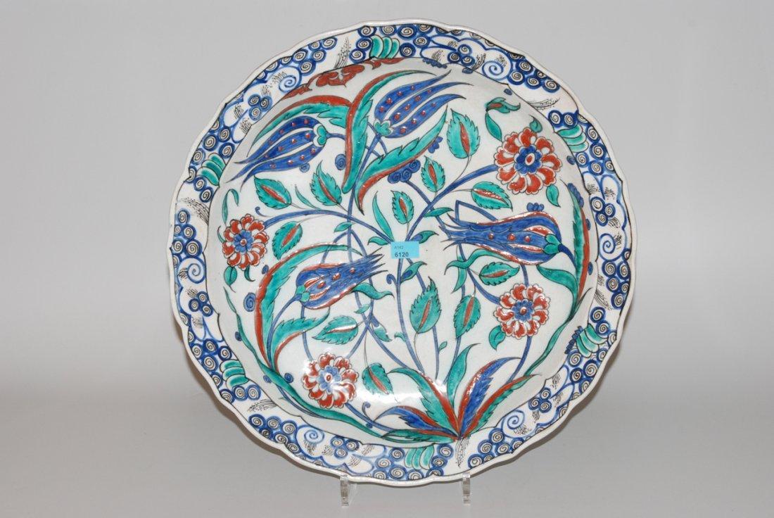 Iznik-Stil Platte Trkei, um 1900. Fayence. Leicht