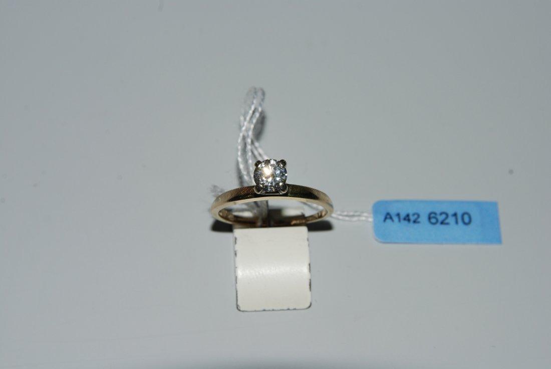 Brillant-Ring 585 Gelb-/Weissgold. Solitaire. 1