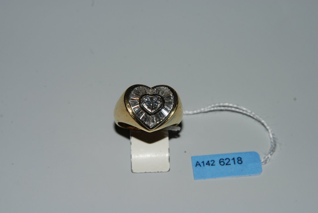 Diamant-Ring 750 Gelb-/Weissgold. 1