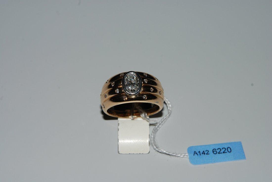 Diamant-Ring 750 Gelb-/Weissgold. Bandring mit 1