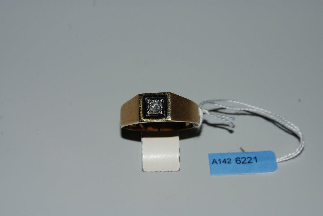Brillant-Herrenring 750 Gelb-/Weissgold. 1 Brillant,