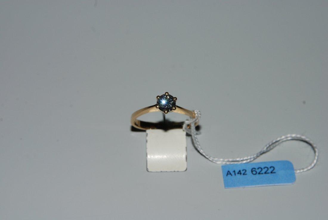 Brillant-Ring Kurz. 750 Gelbgold. Solitaire. 1 Brillant