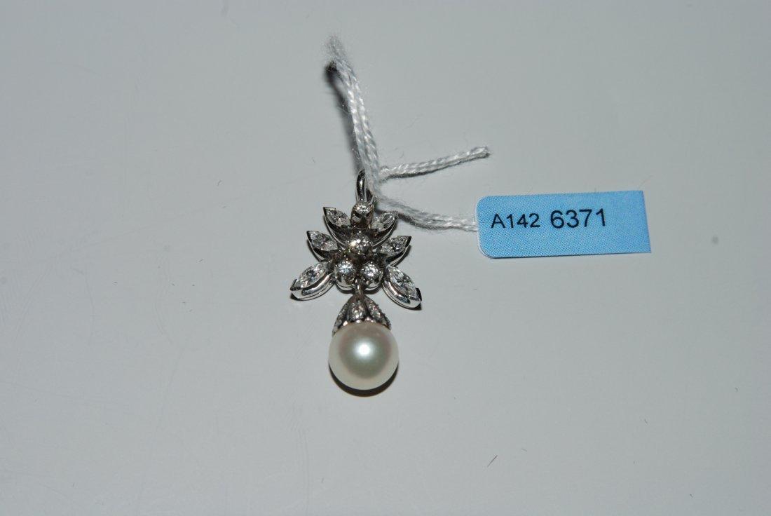 Perlen-Diamant-Anhnger Bucherer. 750 Weissgold. 4