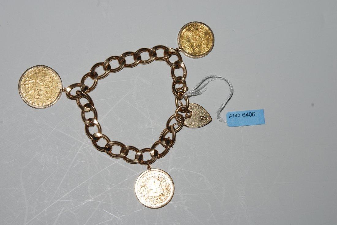 Mnzen-Bracelet 375/916/917/986 Gelb-/Rotgold.