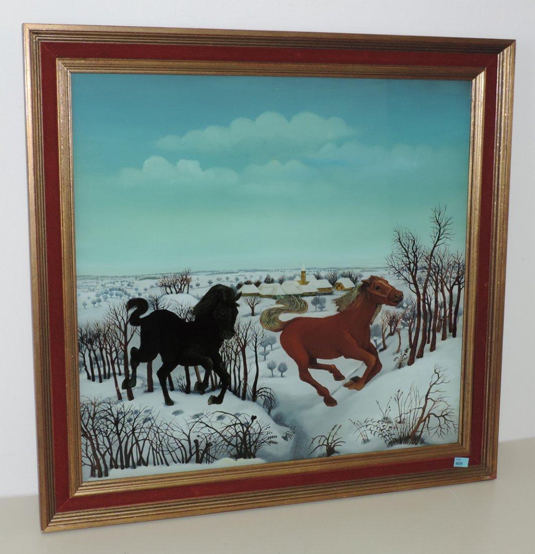 Gazi, Dragan  (1930 Hlebine 1983) Zwei Pferde in einer