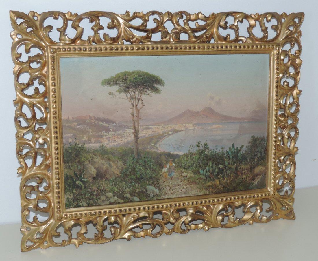 Giusti, Guglielmo  (1824 Neapel 1916) Ansicht der Bucht