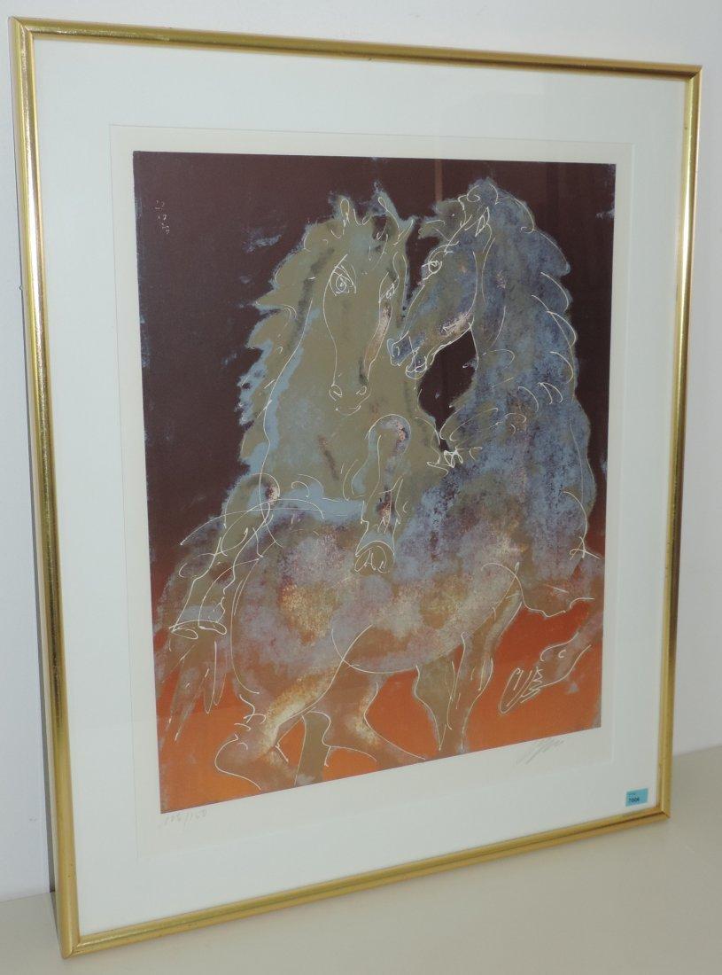 """Erni, Hans (Luzern 1909–2015 Luzern) """"Zwei Pferde,"""